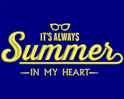 Embroidery Design: Its Always Summer Small 6.02w X 2.58h