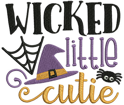 Embroidery Design: Wicked Little Cutie 5.27w X 4.50h