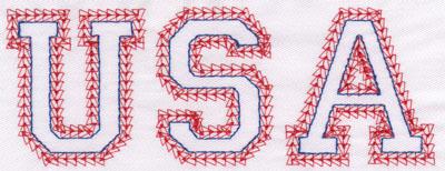 "Embroidery Design: USA Name2.39"" x 6.27"""