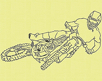 Embroidery Design: Motor Bike 3 4.94w X 2.94h