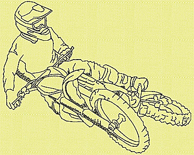 Embroidery Design: Motor Bike 5 4.94w X 3.94h