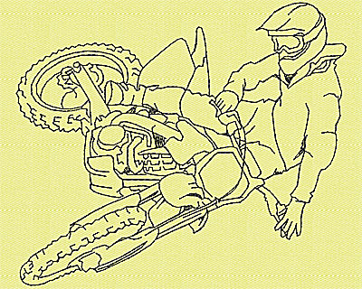 Embroidery Design: Motor Bike 94.88w X 4.19h