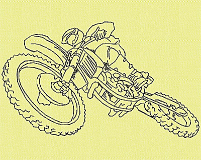 Embroidery Design: Motor Bike 10 4.94w X 2.88h