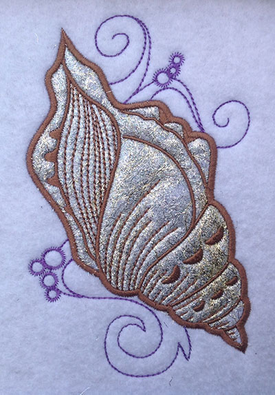 Embroidery Design: Shell Applique 4 Small 3.72w X 5.94h
