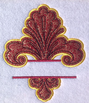 Embroidery Design: Split AppliqueFleur De Lis Small 6.28w X 7.39h