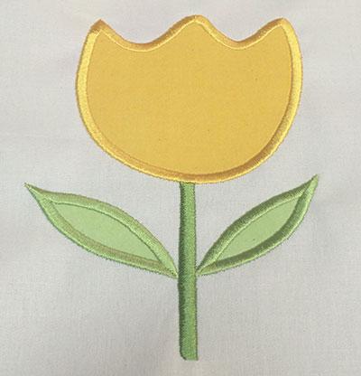 Embroidery Design: Spring Rose Applique 4.73w X 6.61h