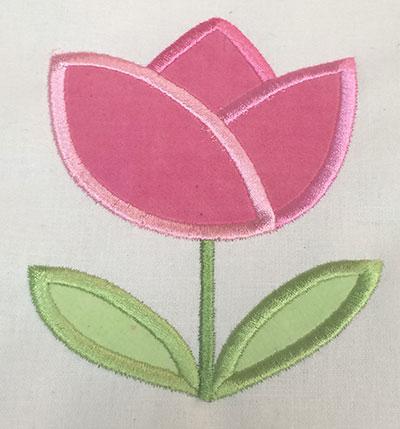 Embroidery Design: Spring Rose Applique  3.62w X 4.65h