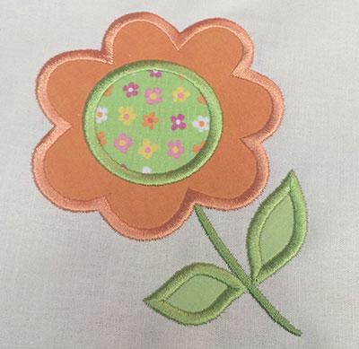 Embroidery Design: Flower Applique  4.29w X 5.16h
