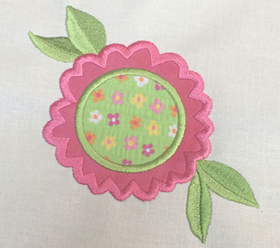 Embroidery Design: Spring Floral Applique 4.79w X 4.53h