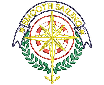 Embroidery Design: Smooth Sailing 5.00w X 5.25h