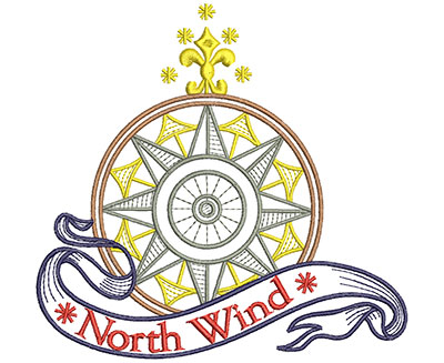 Embroidery Design: North Wind 5.71w X 5.46h