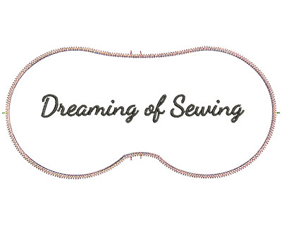 Embroidery Design: Dreaming Of Sewing 7.07w X 3.39h