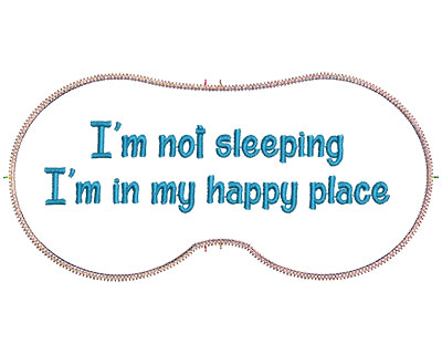 Embroidery Design: In My Happy Place 7.07w X 3.39h