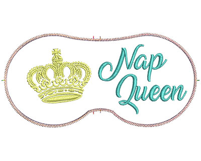 Embroidery Design: Nap Queen 7.07w X 3.39h