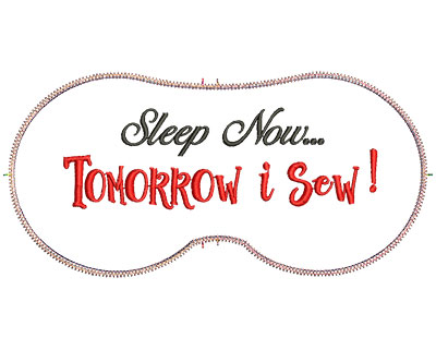 Embroidery Design: Sleep Now  7.07w X 3.39h