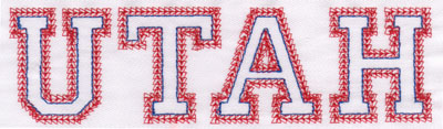 "Embroidery Design: Utah Name2.03"" x 7.13"""