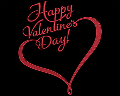 Embroidery Design: Happy Valentine's Day Heart 6.93w X 7.85h