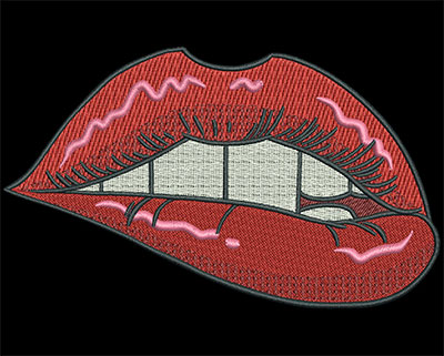 Embroidery Design: Hot Lips5.11w X 3.08h