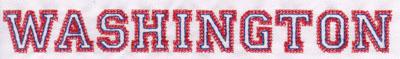 """Embroidery Design: Washington Name0.92"""" x 8.03"""""""