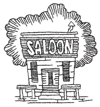 "Embroidery Design: Saloon - Outline3.08"" x 3.30"""