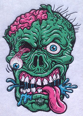 Embroidery Design: Zombie Applique10.19H x 7.35W