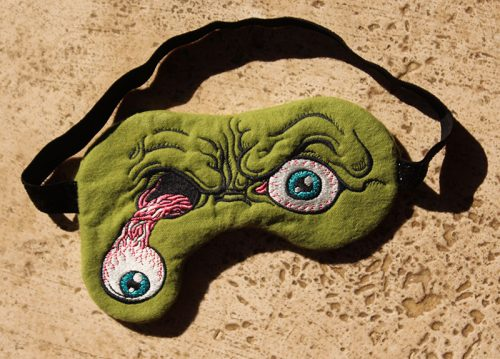 Embroidery Design: Zombie Sleep Mask4.51H x 7.08W