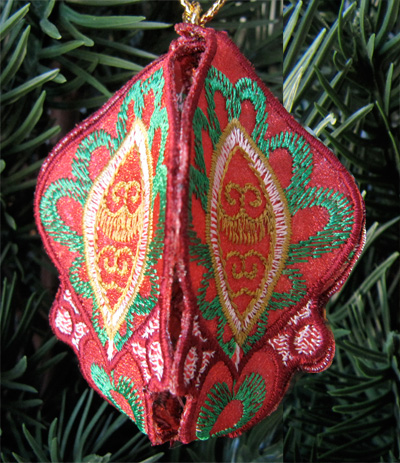 Embroidery Design: Christmas Ornament 12 small 4.98w x 4.98h