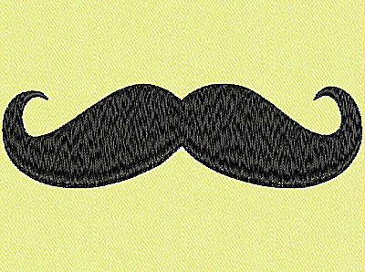 Embroidery Design: Mustache A large 4.01w X 1.17h