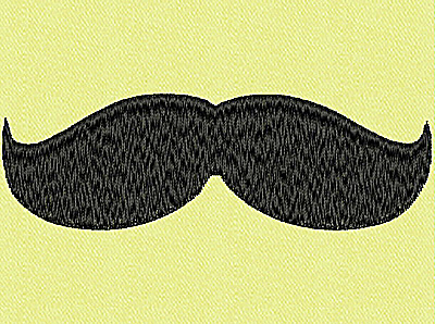 Embroidery Design: Mustache C large 4.00w X 1.28h