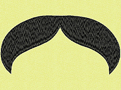 Embroidery Design: Mustache D large 4.00w X 1.98h