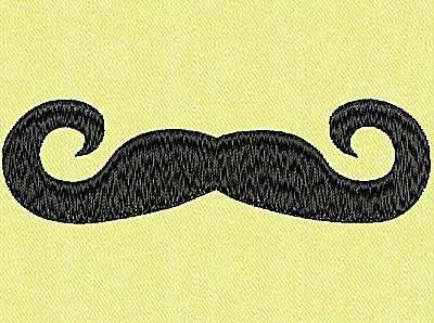 Embroidery Design: Mustache E large 4.00w X 1.17h