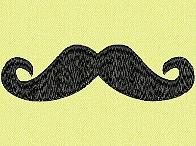 Embroidery Design: Mustache F large 4.00w X 1.19h