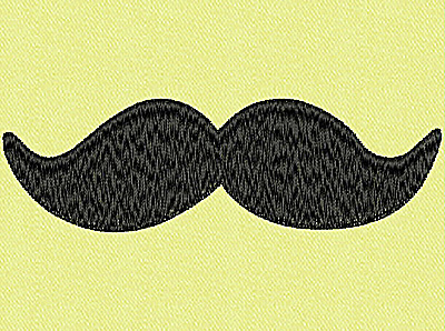 Embroidery Design: Mustache G large 4.00w X 1.23h