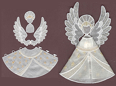 Embroidery Design: Angel 1 small5.91w X 3.30h