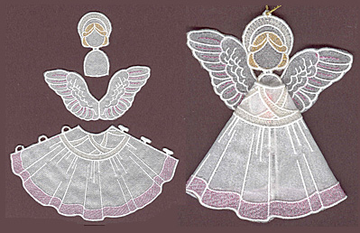 Embroidery Design: Angel 2 small5.78w X 3.32h
