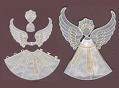 Embroidery Design: Angel 3 small<br> 5.91w X 3.32h