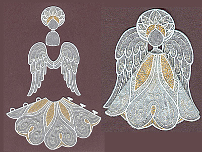 Embroidery Design: Angel 5 small5.92w X 3.33h