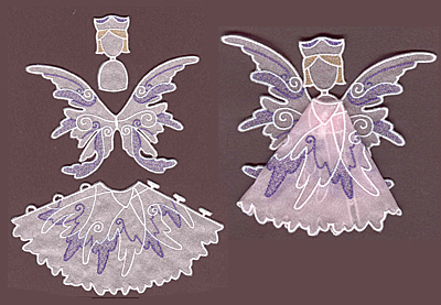 Embroidery Design: Angel 6 small<br> 6.21w X 3.55h