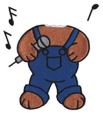 "Embroidery Design: Singer Bear Body3.63"" x 4.06"""
