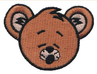 "Embroidery Design: Singing Bear Head2.23"" x 1.65"""