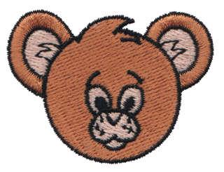 "Embroidery Design: Bear Head2.22"" x 1.67"""