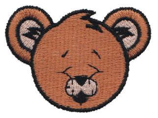 "Embroidery Design: Sleeping Bear Head2.22"" x 1.66"""