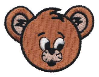 """Embroidery Design: Suprised Bear Head2.24"""" x 1.69"""""""
