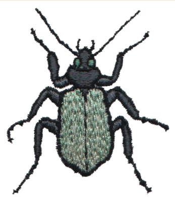 """Embroidery Design: Beetle Bug2.61"""" x 3.01"""""""