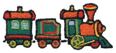 """Embroidery Design: Toy Train3.06"""" x 1.33"""""""