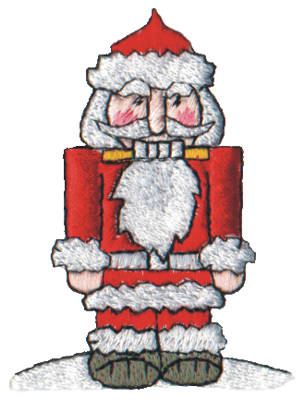 "Embroidery Design: Snow Globe Nutcracker2.16"" x 2.78"""
