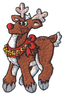 "Embroidery Design: Snow Globe Reindeer1.71"" x 2.64"""