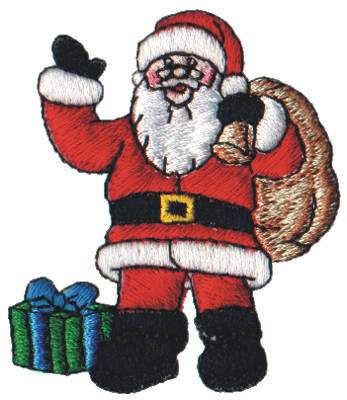 "Embroidery Design: Snow Globe Santa2.30"" x 2.61"""