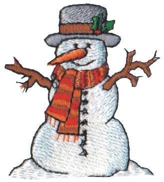 "Embroidery Design: Snow Globe Classic Snowman2.13"" x 2.33"""