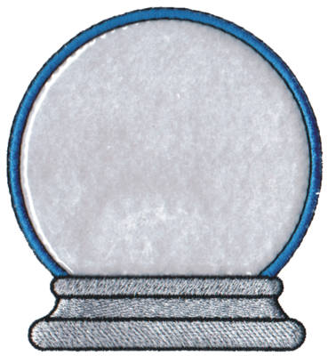 "Embroidery Design: Snow Globe Applique3.62"" x 3.93"""